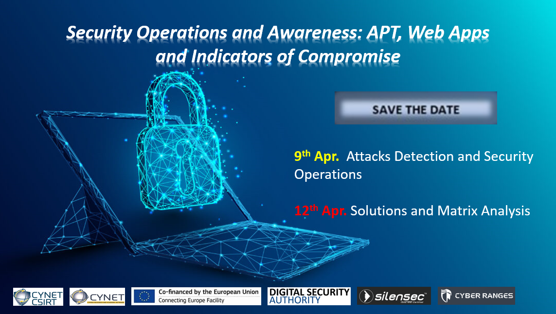 Save the Date! Security Operations and Awereness: APT, Web Apps and Indicators of Compromise